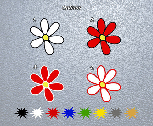 Daisy Flower Sticker