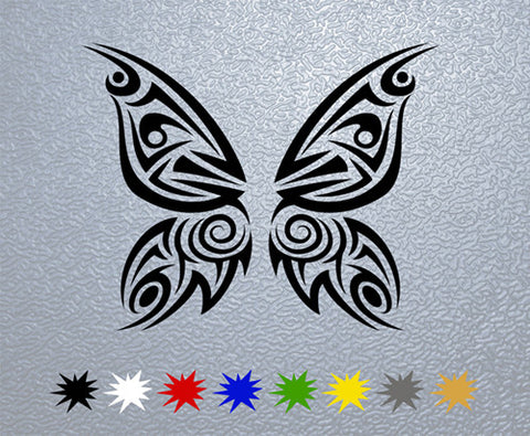 Tribal Butterfly Sticker (x1)