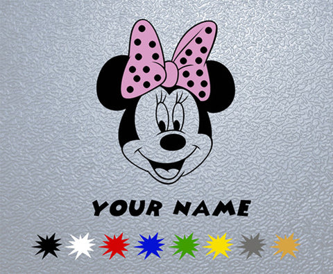 Minnie Mouse Personalized Sticker (x1)