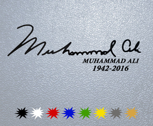 Muhammad Ali Signature Sticker