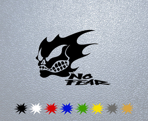 No Fear with Skull Logo Sticker