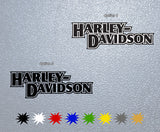 Harley Davidson Name Logo Sticker