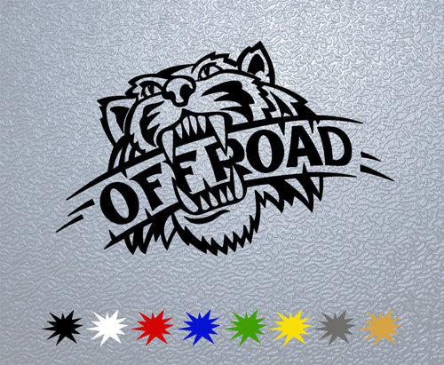Off Road Wild Tiger  Sticker