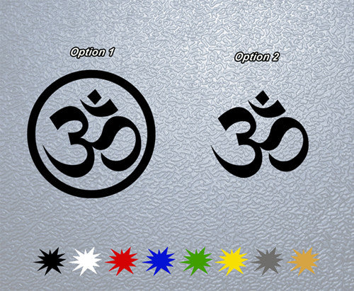 Yoga Om Ohm Symbol Sticker