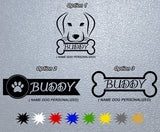 Personalized Dog Name Sticker