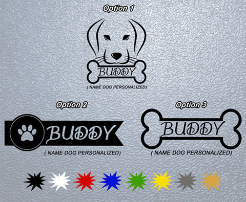 Personalized Dog Name Sticker (x1)