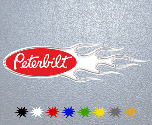 Peterbilt Flame Logo Sticker