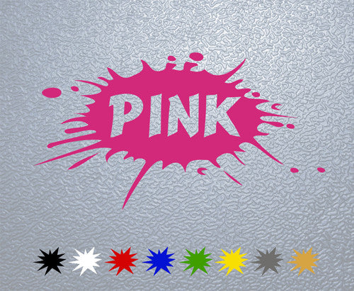 Pink Splash Sticker