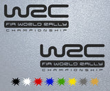 WRC Racing Logo Sticker