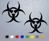 Biohazard Symbol Logo Sticker