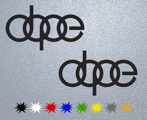 Dope Racing Logo Sticker