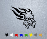 Skull Flame Sticker