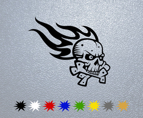 Skull Flame Sticker (x1)