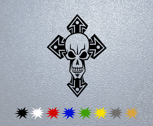 Skull and Cross Sticker