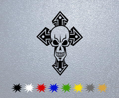 Skull and Cross Sticker (x1)