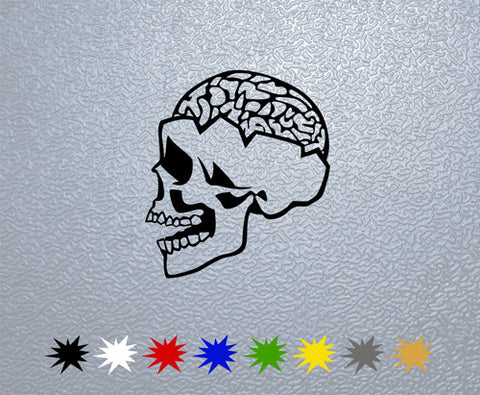 Skull and Brain Sticker (x1)