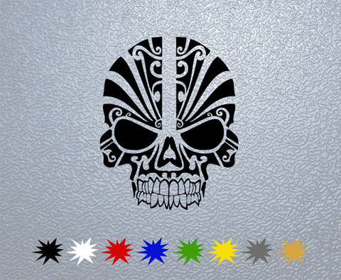 Skull Tribal Mask Sticker (x1)
