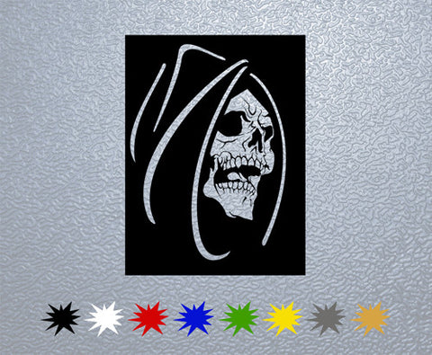 Dead Face Skull Sticker (x1)