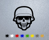 Soldier Skull Sticker