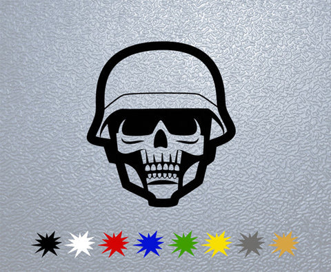 Soldier Skull Sticker (x1)