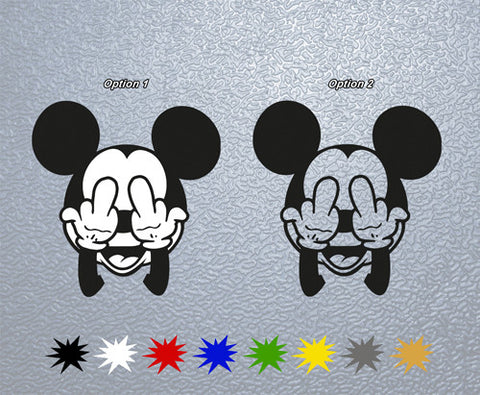 Mickey Maus Fuck Sticker (x1)