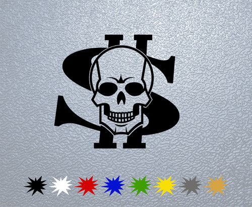 Dollar Skull Sticker