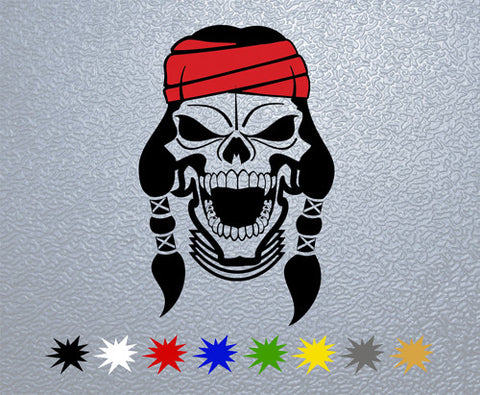 Apache Skull Sticker (x1)