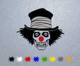 Clown Skull Sticker