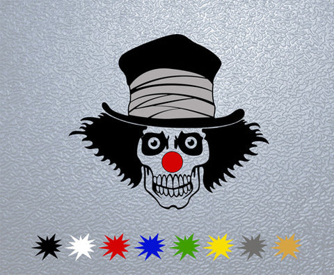 Clown Skull Sticker (x1)