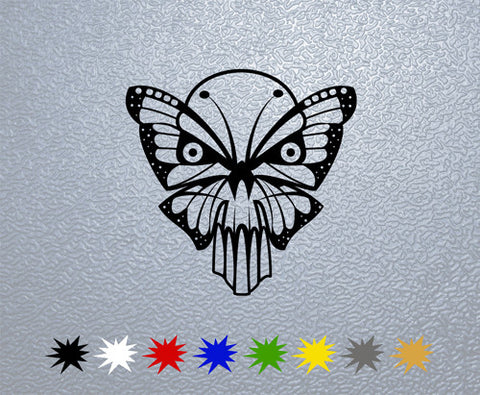 Butterfly Skull Sticker (x1)