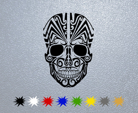 Tribal Skull Sticker (x1)