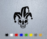 Harlequin Skull Sticker