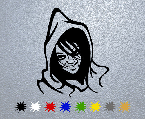 Scary Face Sticker