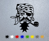 Pirate Big Pipe Face Sticker
