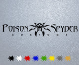 Poison Spyder Logo Sticker