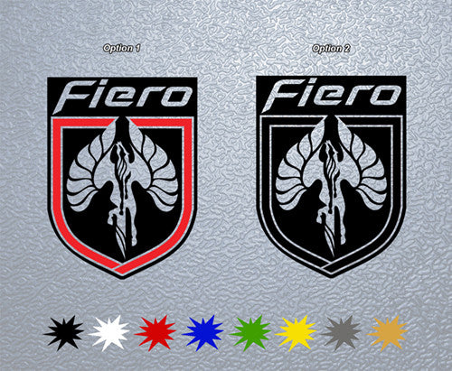 Pontiac Fiero Logo Sticker