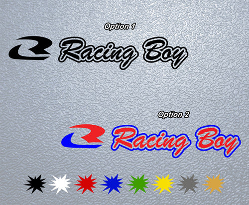 Racing Boy Logo Sticker