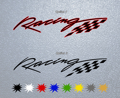 Racing Logo Sticker
