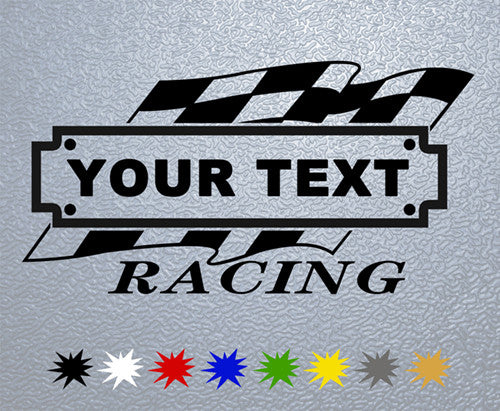 Personalized Racing #1 Sticker