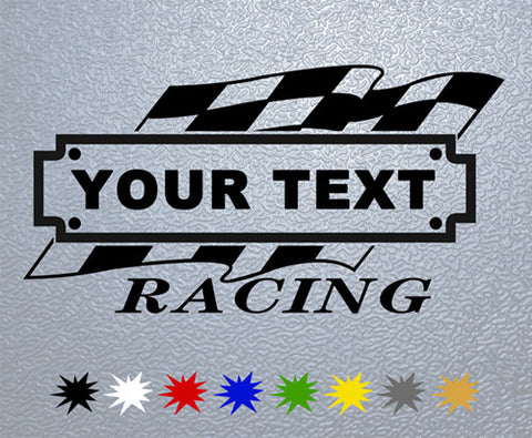Personalized Racing #1 Sticker (x1)