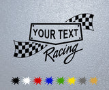 Personalized Racing Sticker