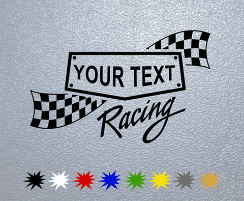 Personalized Racing Sticker (x1)