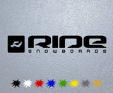 Ride Snowboards Logo Sticker