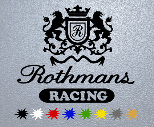 Rothmans Racing Logo Sticker