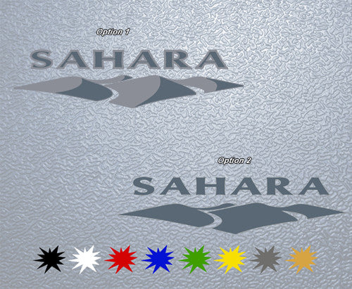 Jeep Sahara Logo Sticker