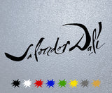 Salvador Dali Signature Sticker