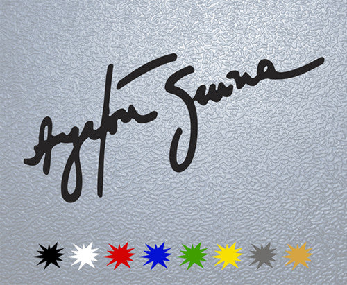 Ayrton Senna Signature Sticker