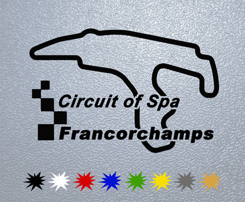 Circuit of Spa Francorchamps Sticker (x1)