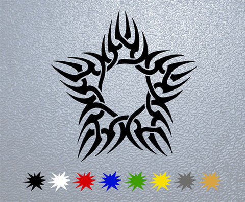 Tribal Star Sticker (x1)