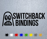 Switchback Bindings Snowboards Logo Sticker